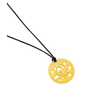 Kamalaya Design    Lotus Siyah İp Kolye