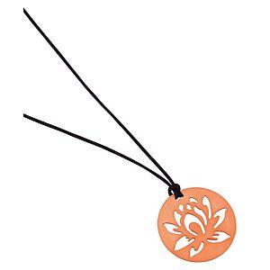 Kamalaya Design    Lotus Siyah İp Pembe Altın Kaplama Kolye