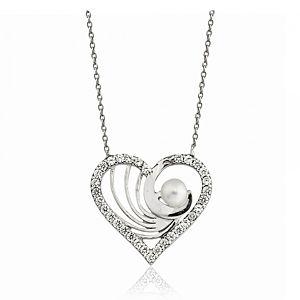 Nevinci    Sevgi Taşlı Gümüş Kolye