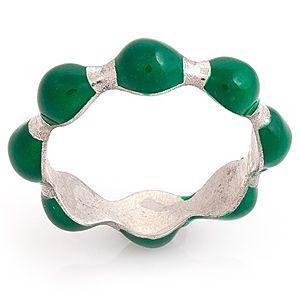 Nina's    Yeşil Mineli Yüzük