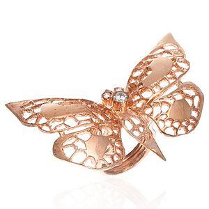 SHAINA    Big Butterfly Rose Yüzük
