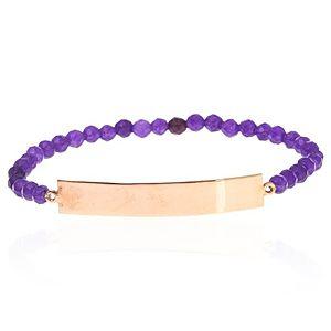 SHAINA    Pure Purple Dikdörtgen Plaka Bileklik