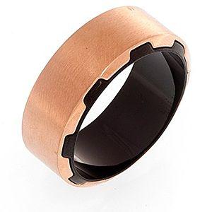 Style & Steel    Pembe Altın Rengi Çelik Yüzük