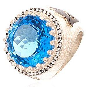 Zivatu    Blue Quartz Gümüş Yüzük