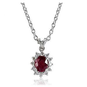 Divas Diamond    Pırlanta Yakut Kolye
