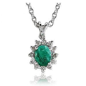 Divas Diamond    Pırlanta Zümrüt Kolye