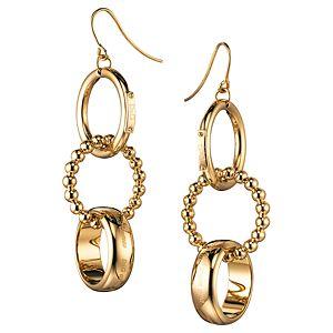 Dolce & Gabbana    Altın Kaplama Üç Halka Sallantılı Küpe