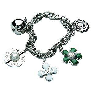 Dolce & Gabbana    Çiçekli Çelik Bileklik