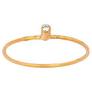 Elif Doğan Jewelry    Minik Altın Beyaz Taşlı Yüzük