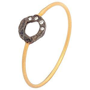 Elif Doğan Jewelry    Oval Okside Amorf İnce Yüzük