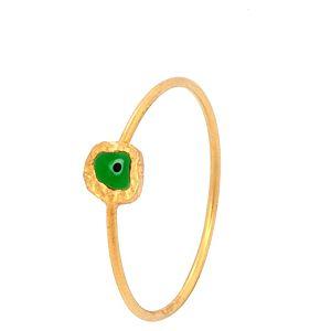Elif Doğan Jewelry    Yeşil İnce Nazar Yüzük