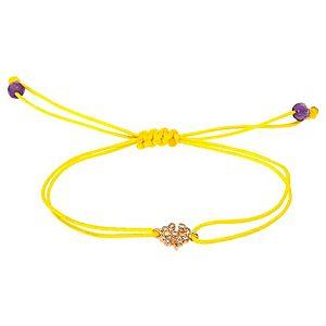 HRN Diamond    Sarı Dört Yapraklı Yonca İpli Bileklik