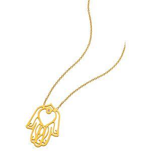 Kamalaya Design    Hamsa Altın Kaplama Zincir Kolye