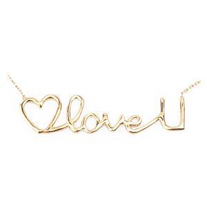 Lin Jewelry    I Love You Kolye