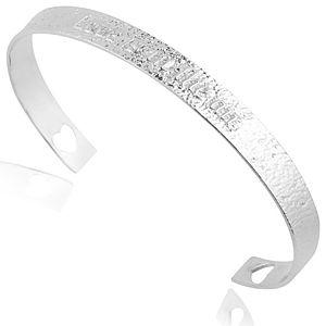 Lin Jewelry    I Love You Vurgulu Beyaz Bilezik
