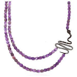 SHAINA    Purple Dark Snake Kolye