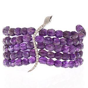 SHAINA    Purple Snake Bileklik