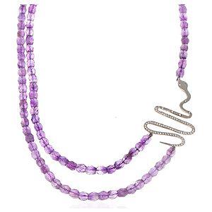 SHAINA    Purple Snake Kolye