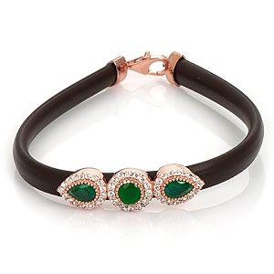 TOPHILLS    Gemma Classic Emerald Siyah Bileklik