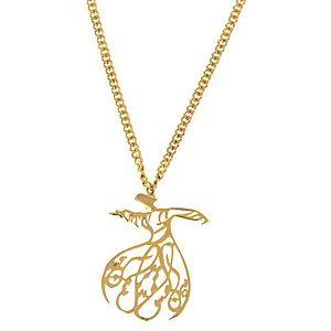 Herşey aşk'tan    Altın Kaplama Sufi Zincirli Kolye