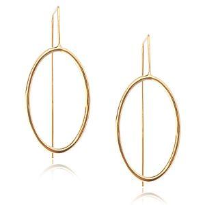 Lin Jewelry    Oval Formlu Küpe
