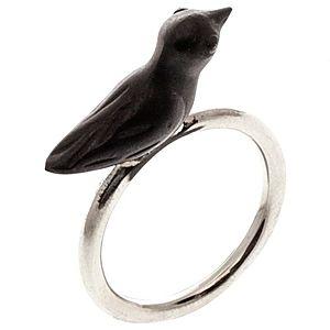 NAYAD BAL    Siyah Kuş Yüzük