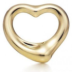 Tiffany & Co.     Elsa Peretti Gold Open Heart Kolye Ucu