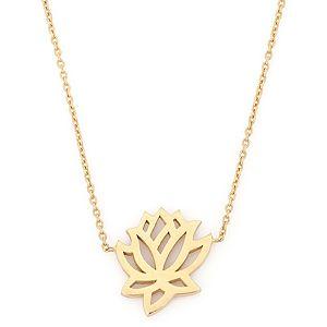Zeyy    Gümüş Lotus Kolye