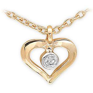 Ariş Pırlanta Kalp Altın Kolye