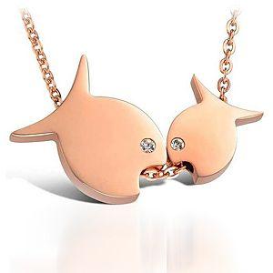 Ejoya Aşık Balıklar Pırlanta Kolye