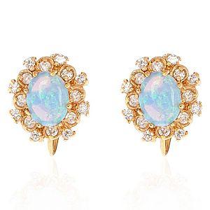 Jeogem    Opal Klasik Küpe