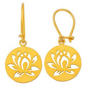 Kamalaya Design    Lotus Altın Kaplama Küpe