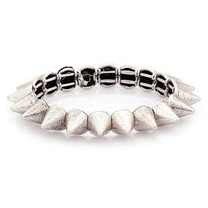 Parlaque    Gümüş Rengi Chic & Edgy Bileklik