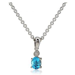 Divas Diamond    Pırlanta Blue Topaz Kolye