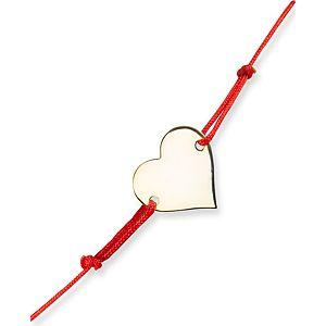 Mortakı Kırmızı İpli Kalp Bileklik