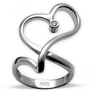 ARİŞ PIRLANTA    Pırlanta Kalp Gümüş Yüzük