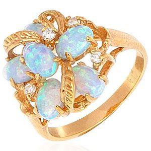 Jeogem    Opal Çok Taşlı Yüzük