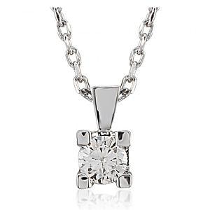 Divas Diamond    Pırlantalı Beyaz Altın Kolye