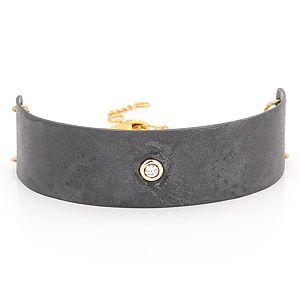 Elif Doğan Jewelry    Tek Taş Plaka Bileklik