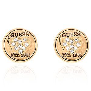 Guess    Altın Rengi Düğmeli Küpe