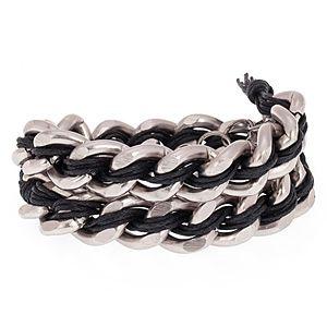 Chain Reaction    Chain Lux Fume Siyah Bileklik