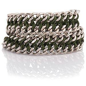 Chain Reaction    Metalik Yeşil Chain Braid XL Bileklik