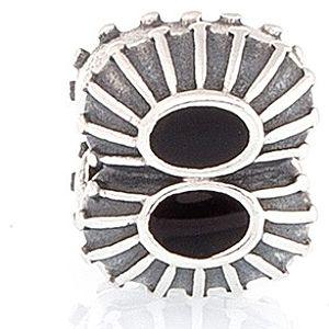 Pandora    Siyah Detaylı Charm
