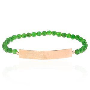 SHAINA    Pure Green Parlak Plaka Bileklik
