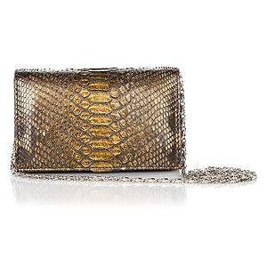 Begart    Bronz Su Yılanı Mini Çanta