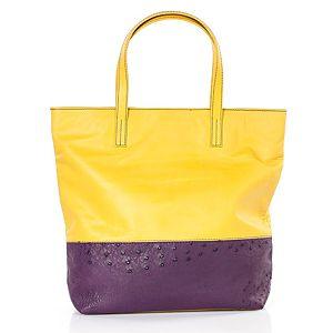 Begart    Sarı Mor Dana Derisi Çanta