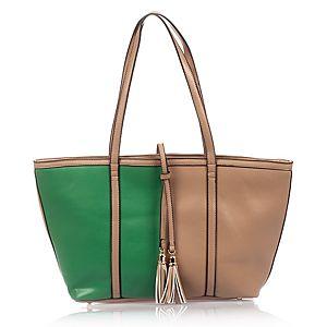 EMMA BROOKS    Gri Yeşil Renkli Çanta