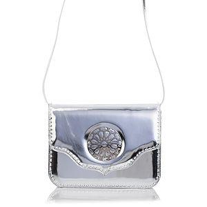 Mehry Mu    Büyük Melo Gümüş Renk Çanta