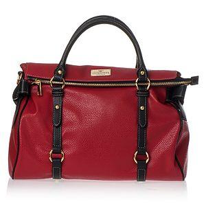 Vivi Boutique    Siyah Saplı Fiyonklu Kırmızı Çanta