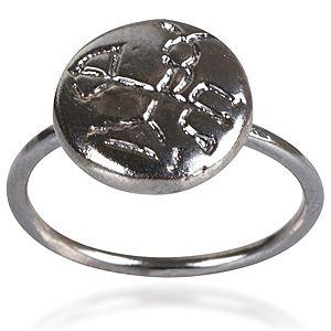 Bonadea Tasarım Yuvarlak Gümüş Yüzük